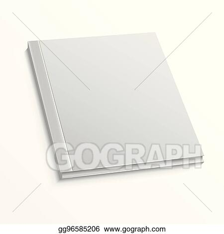 EPS Illustration - Blank magazine cover template on white background