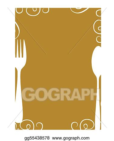 Clip Art Vector - Blank menu page template Stock EPS gg55438578