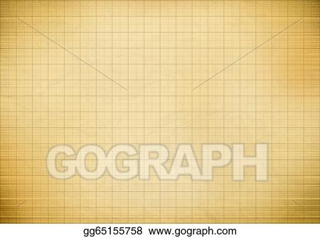Stock Illustration - Blank millimeter old graph paper grid sheet
