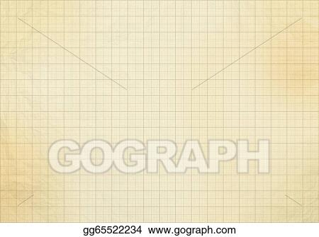 Pictures - Blank millimeter old graph paper grid sheet background or