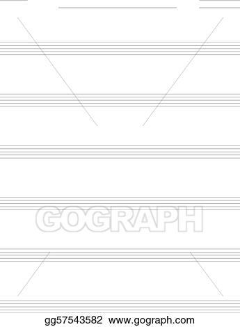 Vector Stock - Blank music sheet for guitar tabs Stock Clip Art