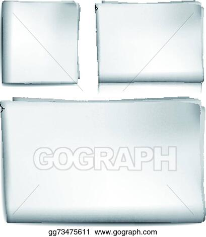Vector Illustration - Blank newspaper Stock Clip Art gg73475611