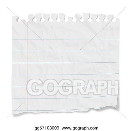 Stock Illustration - Blank note - lined paper Stock Art