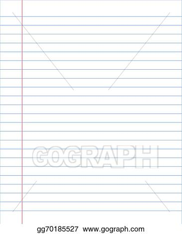 Vector Stock - Blank notebook paper sheet with lines Clipart - blank sheet of paper with lines
