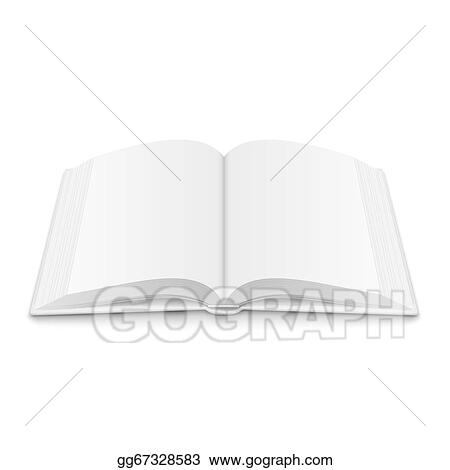 Vector Illustration - Blank opened book template with soft shadows - opened book