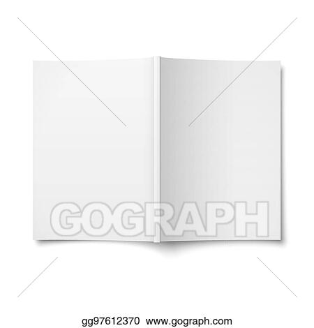 EPS Vector - Blank opened magazine cover template Stock Clipart