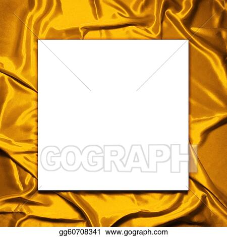 Pictures - Blank paper on elegant and soft gold satin background