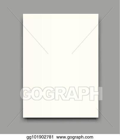 EPS Illustration - Blank poster bi fold brochure mockup cover