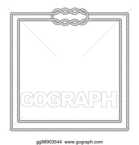 EPS Vector - Blank poster template with nautical border Stock