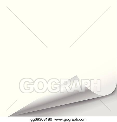 Vector Clipart - Blank sheet of paper with page curl  Vector