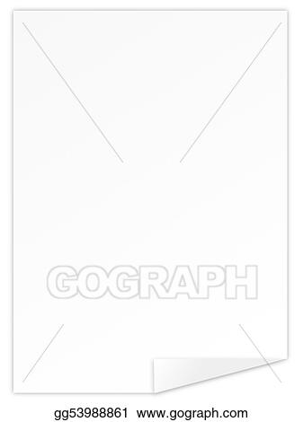Stock Illustration - Blank sheet paper Clipart Illustrations