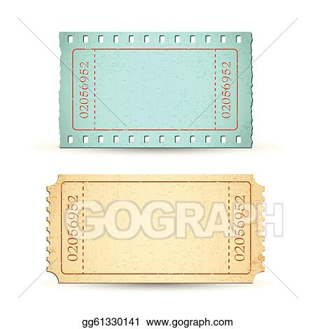 Vector Art - Blank ticket EPS clipart gg61330141 - GoGraph