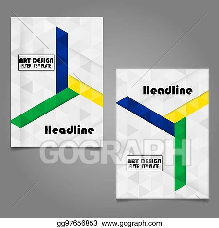Vector Art - Book cover layout designabstract art cover layout
