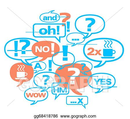 EPS Illustration - Brainstorming meeting background Vector Clipart