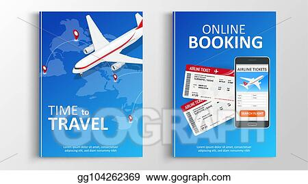 Vector Illustration - Brochure or flaer travel and online bookung