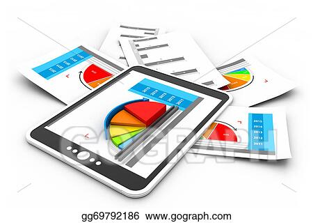Stock Illustrations - Business reports graph Stock Clipart