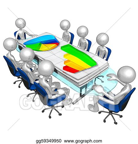 Stock Illustrations - Business reports meeting Stock Clipart