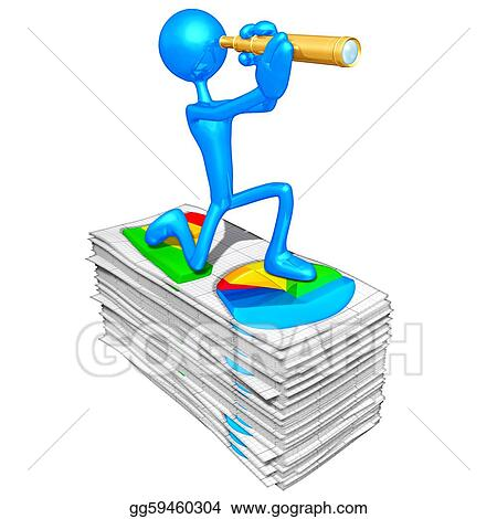 Stock Illustration - Business reports Clipart Drawing gg59460304