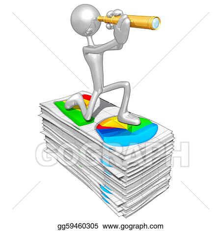 Stock Illustration - Business reports Clipart Drawing gg59460305