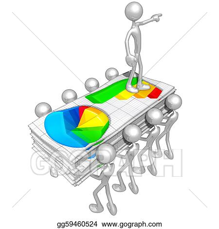 Stock Illustration - Business reports Clipart Drawing gg59460524