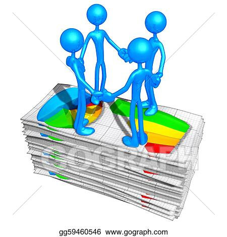 Stock Illustration - Business reports Clipart Drawing gg59460546
