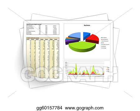 Stock Illustrations - Business reports Stock Clipart gg60157784