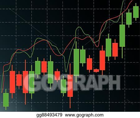 Clip Art Vector - Candlestick trading chart in forex and day trading