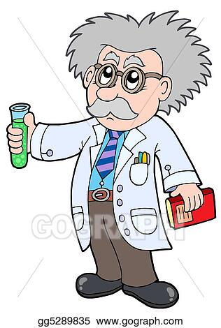 Stock Illustration - Cartoon scientist - Clipart Illustrations