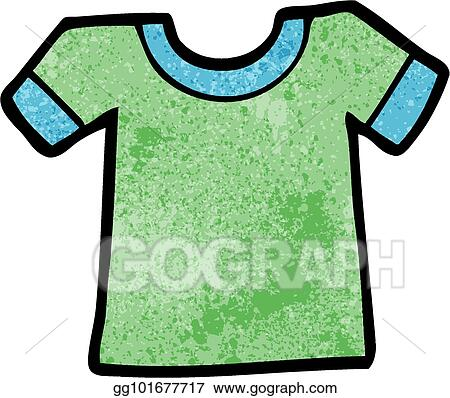 Vector Illustration - Cartoon tee shirt EPS Clipart gg101677717