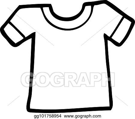 Vector Illustration - Cartoon tee shirt EPS Clipart gg101758954