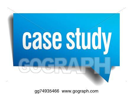 Clip Art - Case study blue 3d realistic paper speech bubble Stock - studyblue