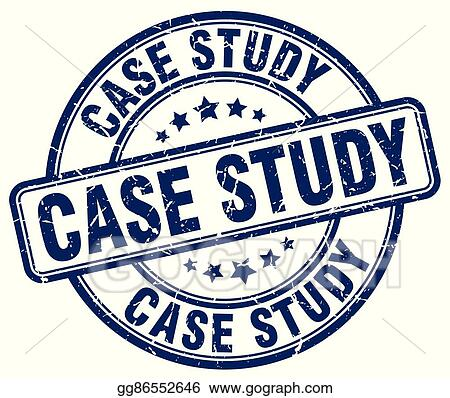 Vector Stock - Case study blue grunge round vintage rubber stamp