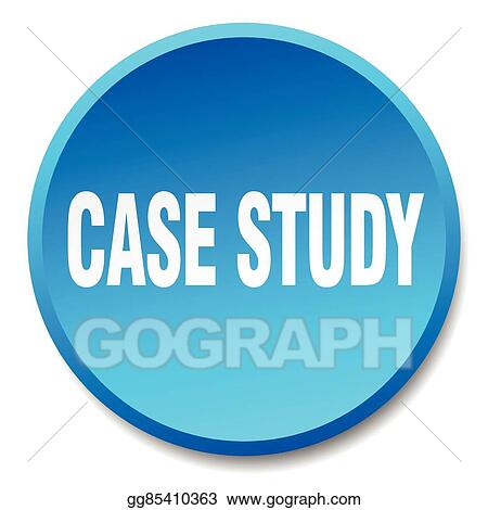 Vector Art - Case study blue round flat isolated push button