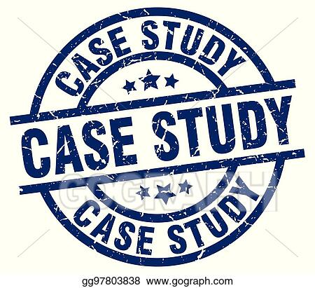 EPS Vector - Case study blue round grunge stamp Stock Clipart