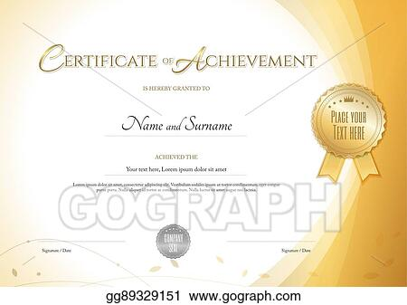 Vector Art - Certificate of achievement template with environment