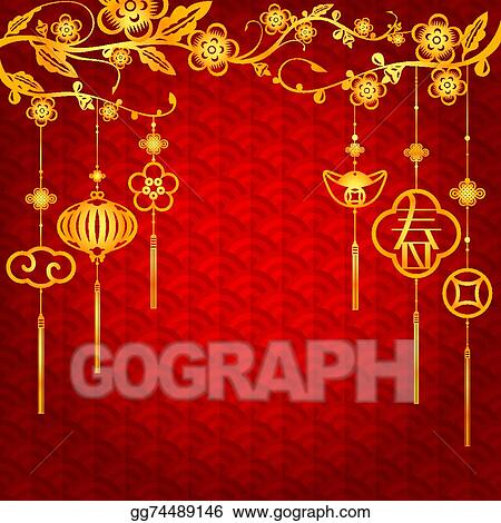 Vector Stock - Chinese new year background Stock Clip Art