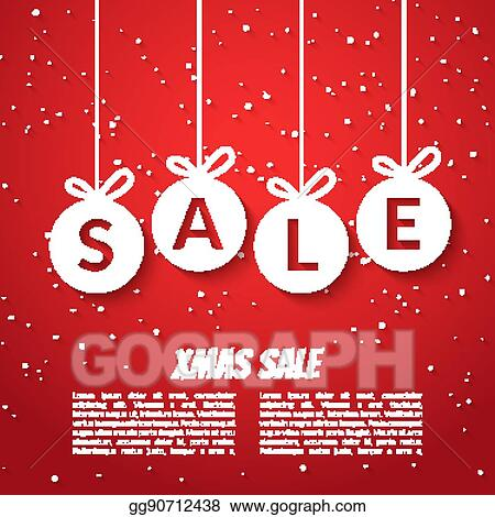 Vector Illustration - Christmas balls sale poster template xmas