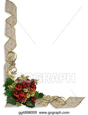 Stock Illustrations - Christmas border corner design Stock Clipart