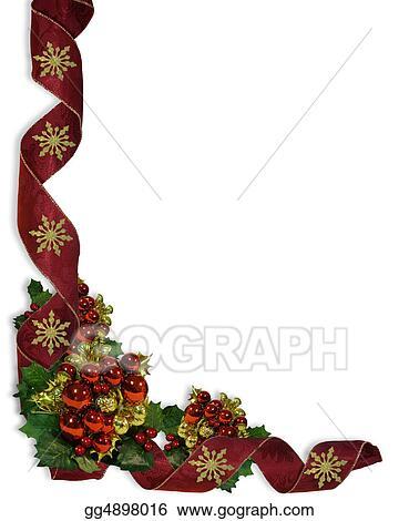 Stock Illustration - Christmas ribbons border design Clip Art