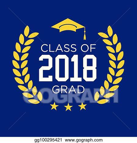 Vector Stock - Class of 2018  congratulations graduate typography