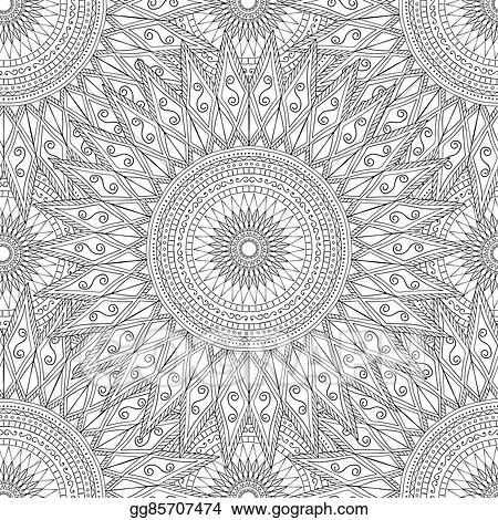 EPS Vector - Coloring pages for adultsdecorative hand drawn doodle - Culring Pajis