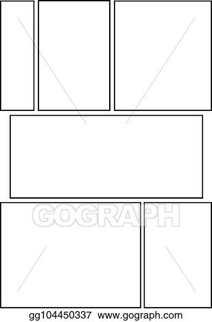 Vector Stock - Comic storyboard layout 15 Clipart Illustration