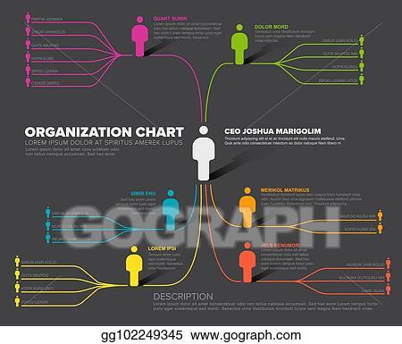 Vector Illustration - Company organization hierarchy schema template