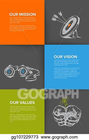 EPS Vector - Company profile template with mission, vision and
