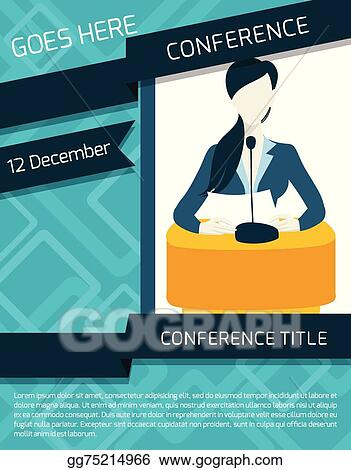 Vector Illustration - Conference announcement template EPS Clipart