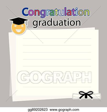 Vector Illustration - Congratulation graduation on white background