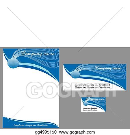 EPS Vector - Contemporary letterhead Stock Clipart Illustration