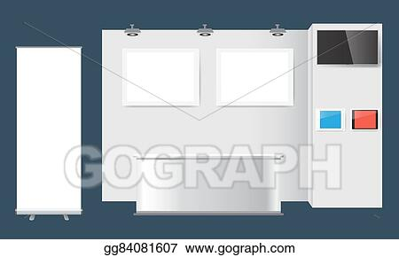 EPS Vector - Creative exhibition stand design booth template - po booth template