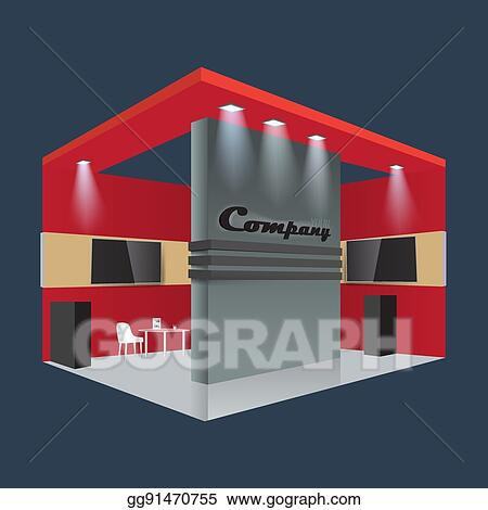 EPS Vector - Creative exhibition stand design booth template
