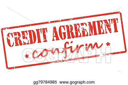 Clip Art Vector - Credit agreement confirm Stock EPS gg79784985